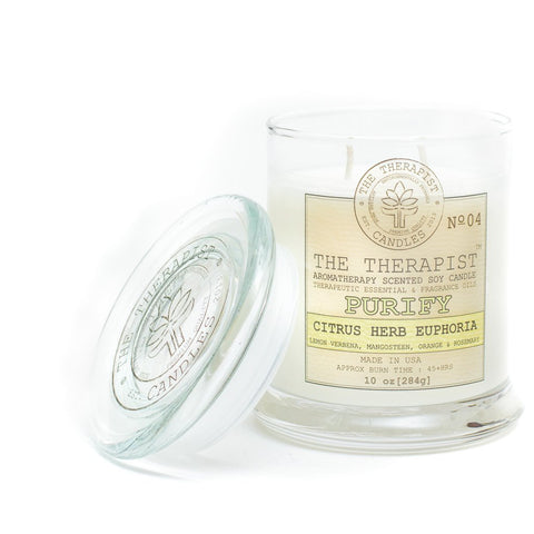 The Therapist Purify Citrus Herb Euphorra Soy Candle
