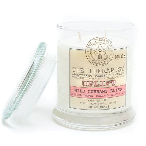 The Therapist Uplift Wild Currant Bliss Soy Candle