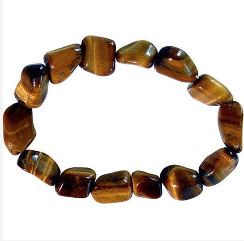 Genuine Tumbled Tiger Eye Bracelet