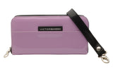 VictorSimoni Lavender Wallet clutch in high gloss finish.