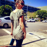 Caught on the streets of Los Angeles in her VictorSimoni Mirtillo wallet clutch