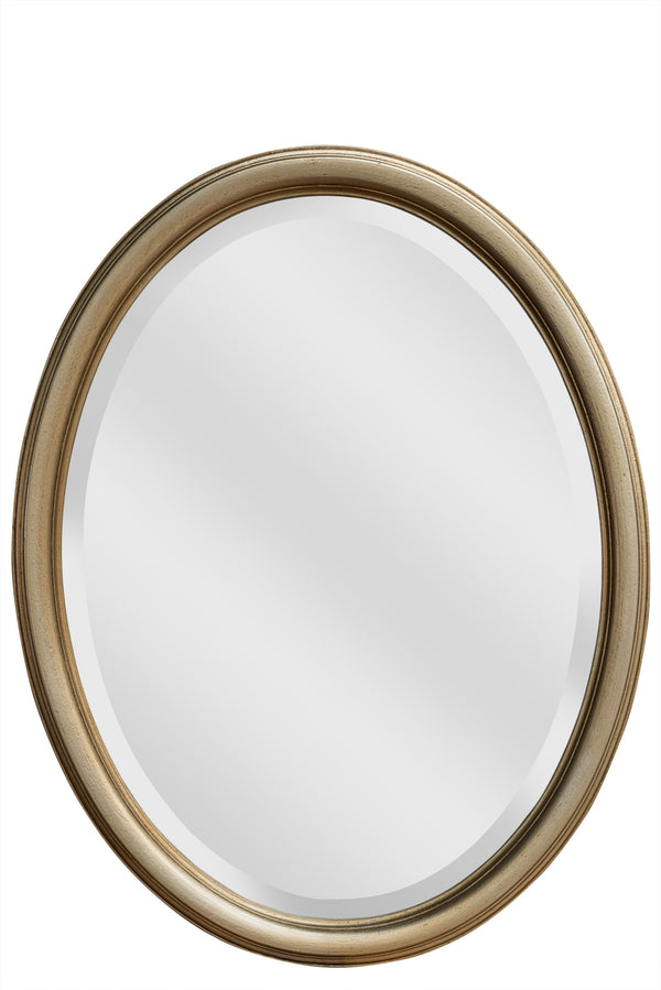 LORD BYRON OVAL MIRROR - SILVER