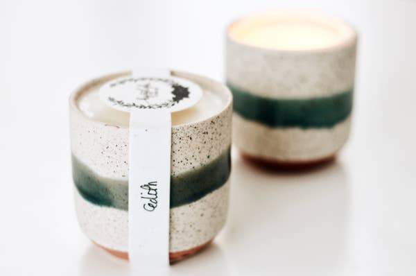 Edith Growing Vegan Soy Candle - comes with seeds to plant - MindfulGoods