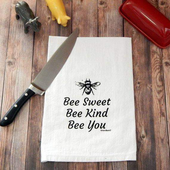 Green Bee Tea Towels - MindfulGoods