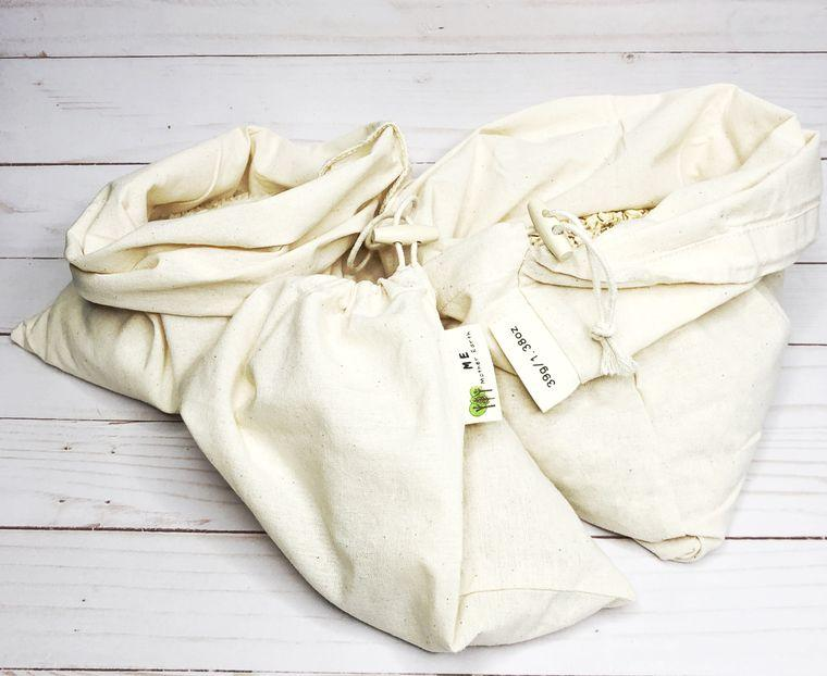 Me Mother Earth 100% Cotton Muslin Bulk Shopping Bags- 3pk - MindfulGoods