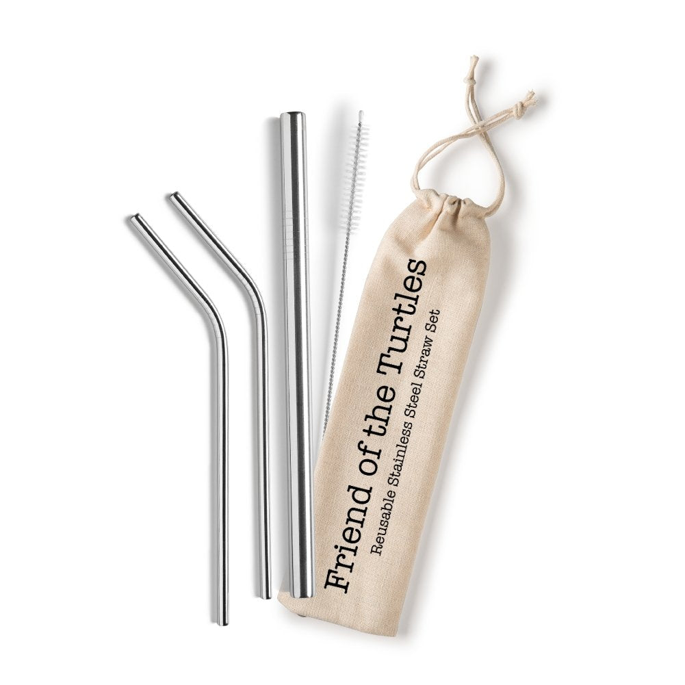 Shell Creek Reusable Stainless Steel Straws - MindfulGoods