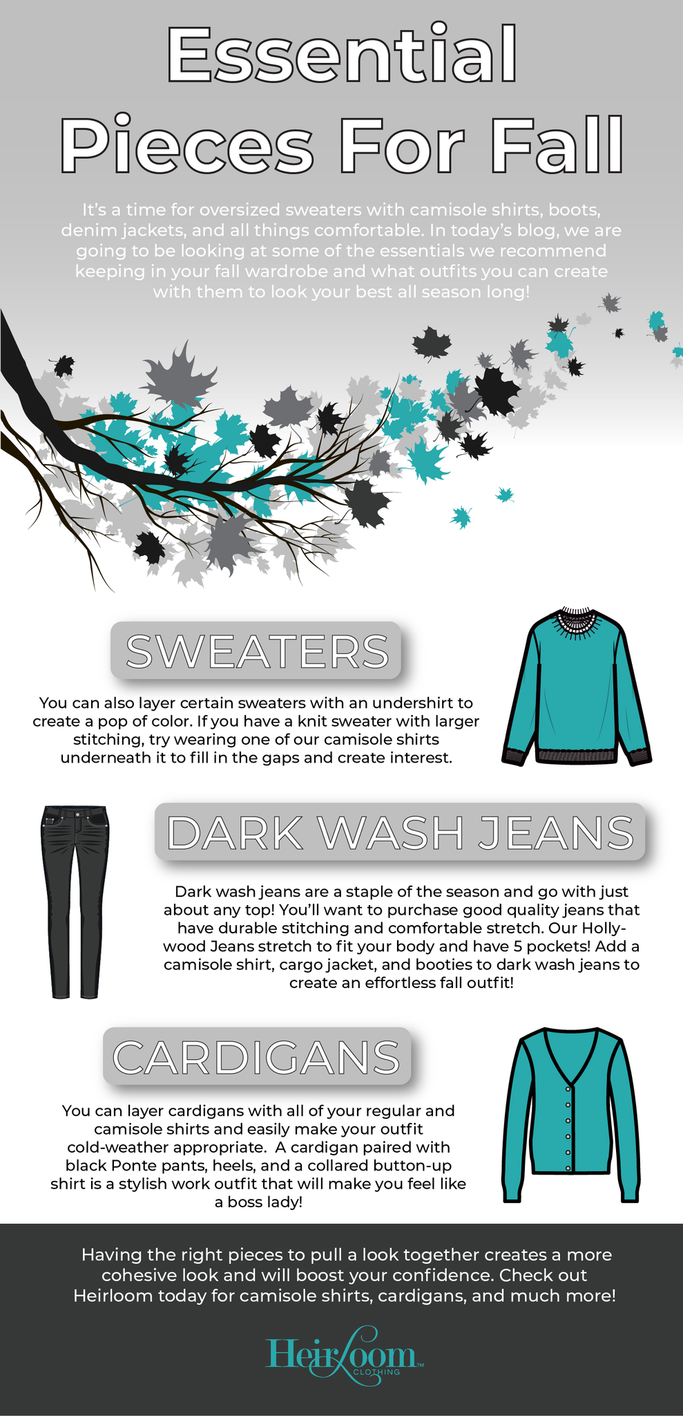 Essential Pieces for Fall – Heirloom Clothing