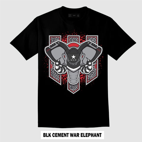 BLACK CEMENT WAR ELEPHANT (T-Shirt)