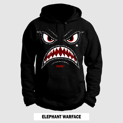 BLACK CEMENT ELEPHANT WARFACE (Hoodie)