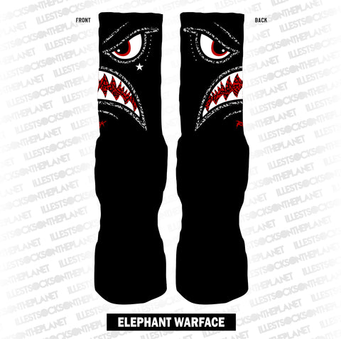 BLACK CEMENT ELEPHANT WARFACE (SOCKS)