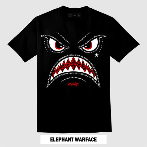 BLACK CEMENT ELEPHANT WARFACE (T-Shirt)