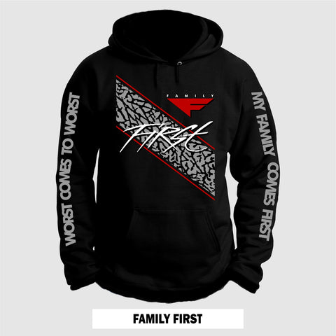 BLACK CEMENT FAMILY FIRST  (Hoodie)