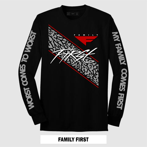 BLACK CEMENT FAMILY FIRST (LONG SLEEVE)