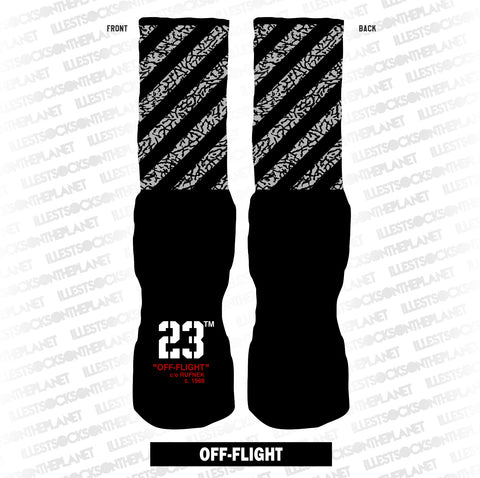 BLACK CEMENT OFF-FLIGHT (SOCKS)
