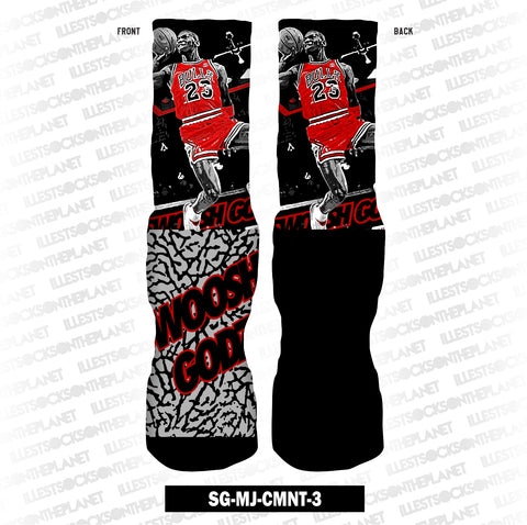 BLACK CEMENT SG-MJ-CMNT-3 (SOCKS)