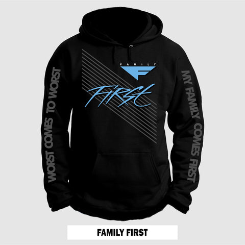 BLK/UNC FAMILY FIRST (HOODIE)