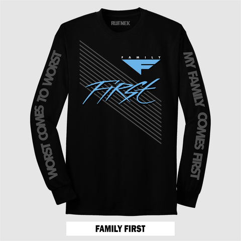 LONG SLEEVE BLK/UNC FAMILY FIRST
