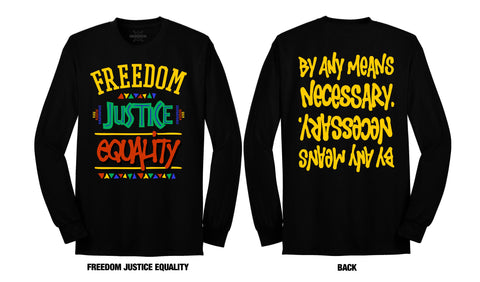 LONG SLEEVE BY ANY MEANS NECESSARY (BLACK TEE)
