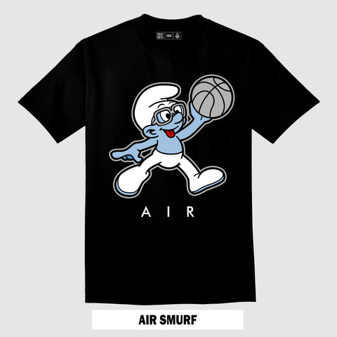 AIR SMURF (Black T-Shirt)