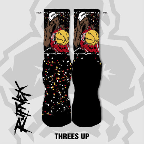 THREES UP -(CHAMP8PACK)- (SOCKS)