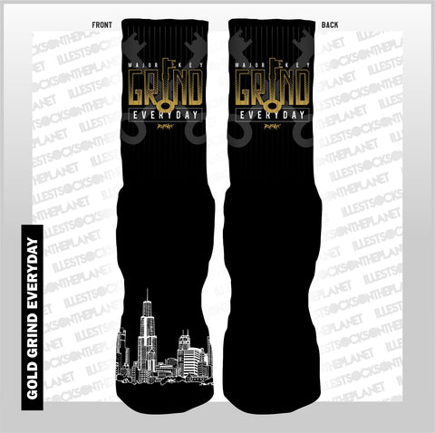 GRIND EVERYDAY -GOLD- (SOCKS)