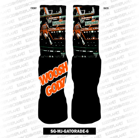 ORANGE SWOOSH GODZ SG-MJ-GATORADE-6 (SOCKS)