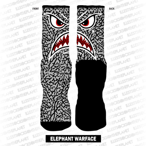 CEMENT ELEPHANT WARFACE (SOCKS)