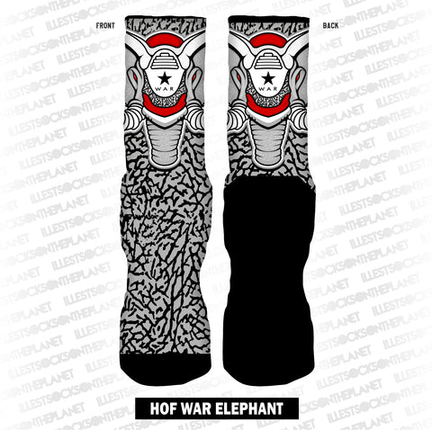 HOF Hall of FAME Cement WAR Elephant (SOCKS)