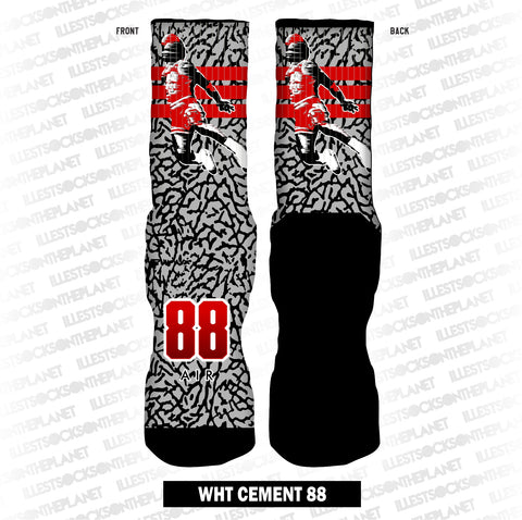 WHT CEMENT 88 (SOCKS)