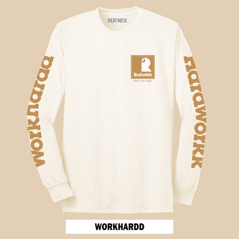 LONG SLEEVE WHEAT WORK HARDD