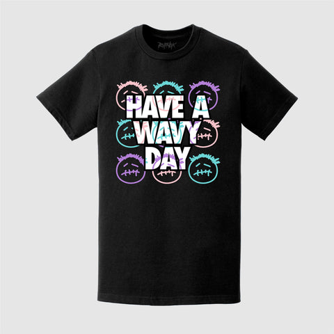 Have a WAVY day! (BLACK TEE)