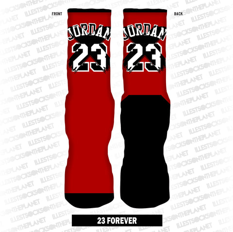 23 FOREVER (RED SOCKS)