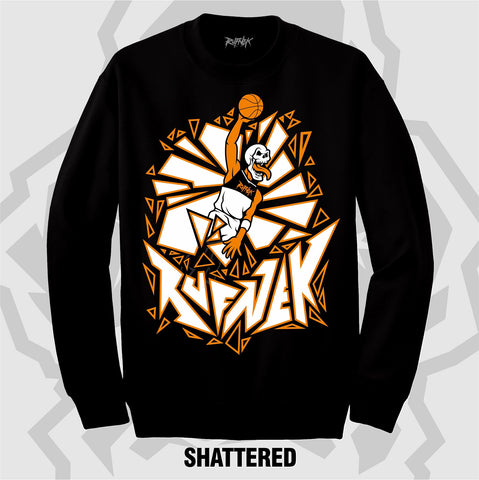 SHATTERED (BLACK CREWNECK)