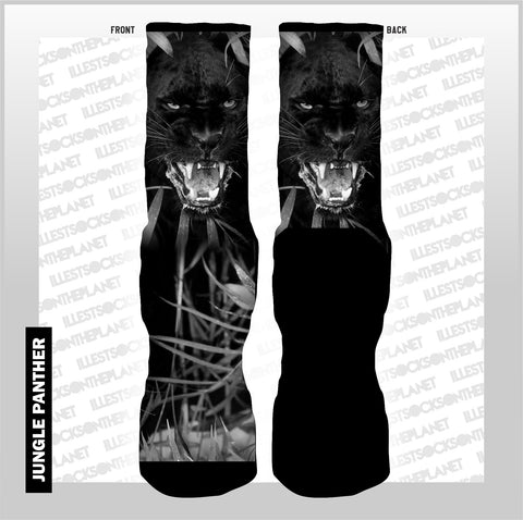 JUNGLE PANTHER- BLK CAT (SOCKS)