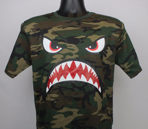CAMO BLK/RED WARFACE (CAMO SHIRT)