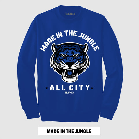 MADE IN THE JUNGLE (ROYAL CREWNECK)