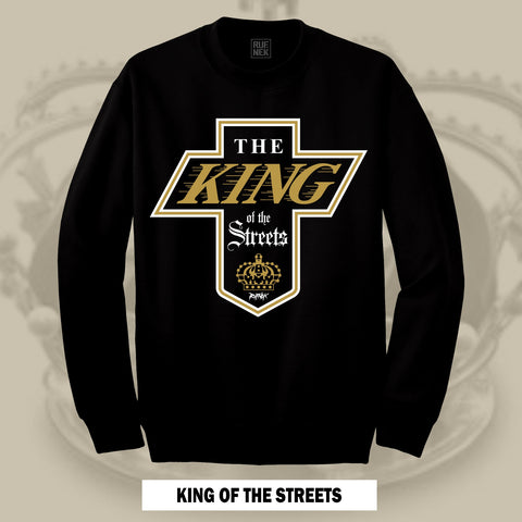 KING OF THE STREETS -GOLD- (BLACK CREWNECK)
