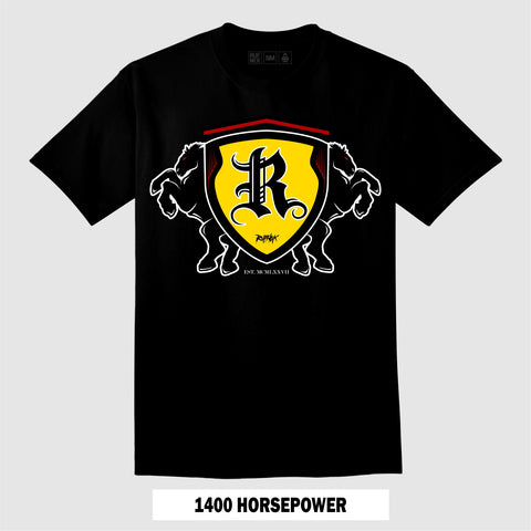 1400 HORSEPOWER (Black T-Shirt)