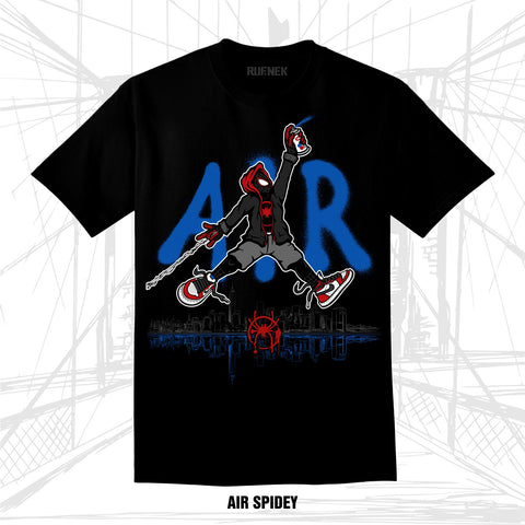 AIR SPIDEY (BLACK TEE)
