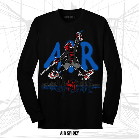 LONG SLEEVE AIR SPIDEY (BLACK TEE)