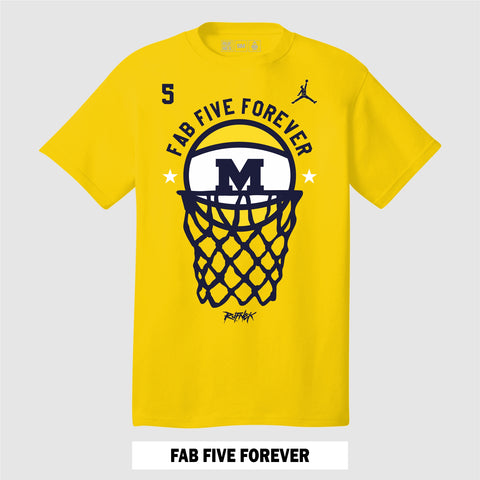 FAB FIVE FOREVER (YELLOW T-Shirt)