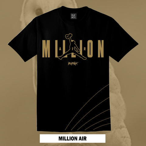 MILLION AIR - BLK/GOLD (BLACK SHIRT)