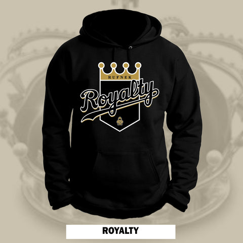 ROYALTY -GOLD-  (BLACK HOODIE)