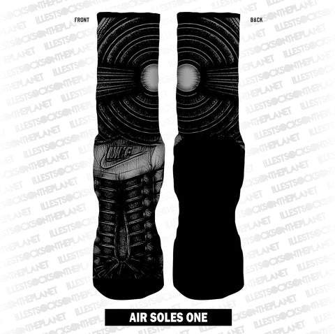AIR SOLES ONE - SHADOW GREY (SOCKS)