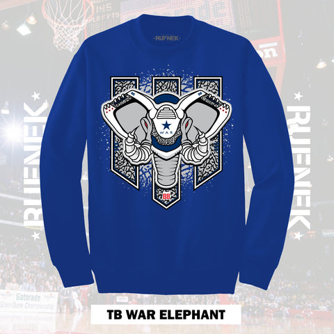 TRUE BLUE WAR ELEPHANT (BLUE CREWNECK)