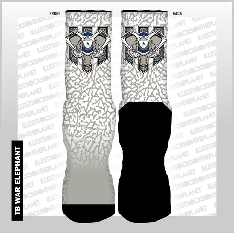 TRUE BLUE WAR ELEPHANT (SOCKS)