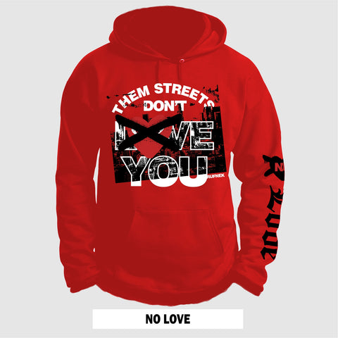 (RED) NO LOVE (HOODIE)