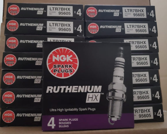 Pre gapped NGK 95605 Ruthenium Spark Plugs (1 Step Colder) Ford Ecoboost