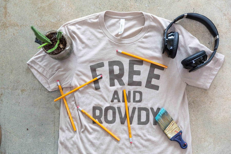 Free and Rowdy - Heather Tan Tee