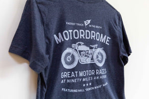 Motordrome - Heather Navy Tee